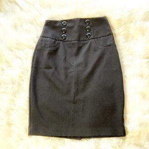 BCX Pencil Skirt Black Size 3
